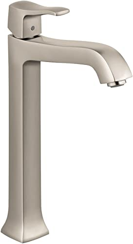 hansgrohe Metris C Classic Replacement Easy Clean 1-Handle 1 12-inch Tall Bathroom Sink Faucet in Brushed Nickel, 31078821
