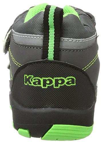 Kappa Unisex-Kinder Perry Mid Tex Kids Combat Boots Grau (1330 Anthra/Green)