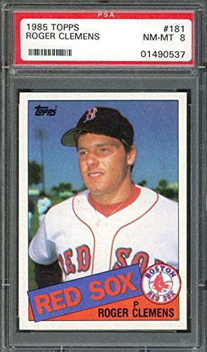 (1985 topps #181 ROGER CLEMENS boston red sox rookie card PSA 8 Graded Card)
