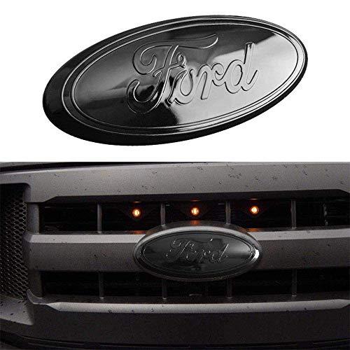 06-11 Ranger 11-14 Edge 11-16 Explorer Red 9inch F150 Emblem Front Grille Emblem F150 Tailgate Emblem Oval 9X3.5 Decal Badge Nameplate Also Fits for 04-14 F250 F350
