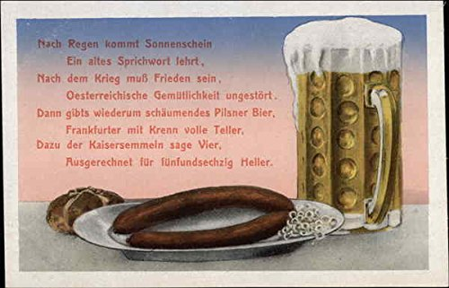 German Beer & Sausage Breweriana Original Vintage Postcard from CardCow Vintage Postcards