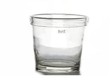 Conic Vase Planter Dutz Folded Edge H25 D26cm High Glass Vase Glass