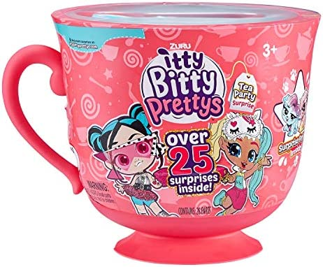 Itty Bitty Prettys Tea Party Teacup Dolls Playset (with Over 25 Surprises) by Zuru - Rocker and Unicorn