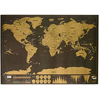 Scratch Map DeluxeTravel  Edition Personalised World Map By Luckies