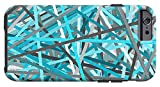 iPhone 6 Case ''Link - Turquoise And Gray Abstract'' by Pixels
