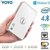 VOYO V2 Windows Mini PC Smart TV Box, Intel Atom Quad Core Z3735F, 2G/32GB + 64GB SSD, 5000mAh Battery, Support Ethernet WIFI Bluetooth