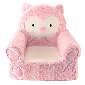 Animal Adventure | Sweet Seats | Pink Owl Children's Plush Chair
