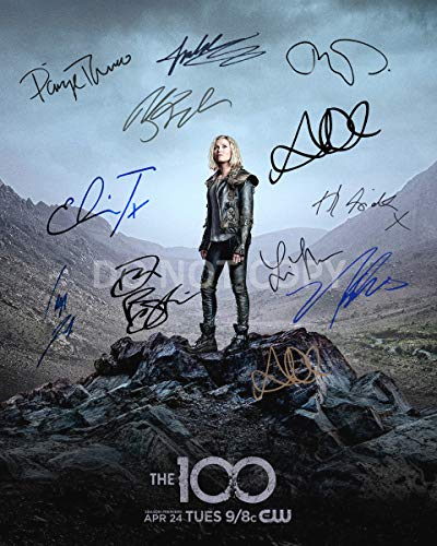 The 100 CW tv show cast reprint signed 11x14 show poster by 11#2 Taylor Debman RP