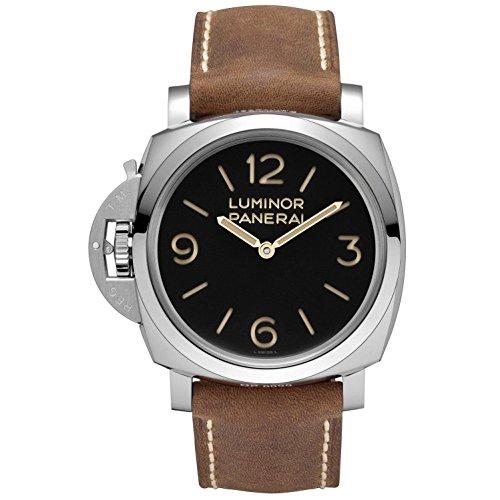 Panerai Luminor 1950 Left-handed 3 Days Acciaio Black Dial Mens Watch PAM00557