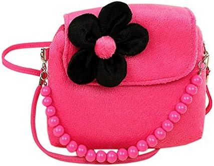 Fablcrew Portefeuille Sac /à main mignon Princesse Lot avec perle de fleurs en peluche b/éb/é Sac /à main pour petite fille