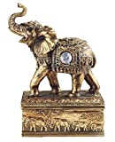 George S. Chen Corp Golden Thai Elephant with Gem Jewelry Trinket Box Animal Container Decoration