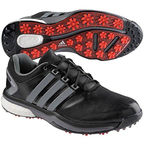 adidas Men's Adipower Boost Golf Shoe, Core Black/Iron Metallic/Core Black, 9 M US