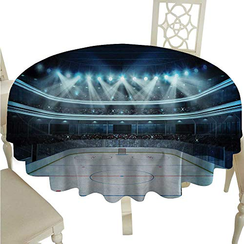 Hockey Fabric Dust-Proof Table Cover Photo of a Sports Arena Full of People Fans Audience Tournament Championship Match Runners,Gatsby Wedding,Glam Wedding Decor,Vintage Weddings D36