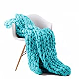 Walking in a dream Chunky Knit Blanket Handmade Bulky Sofa Pet Mat Soft Knitting Throw Bed Rug Blanket Bedroom