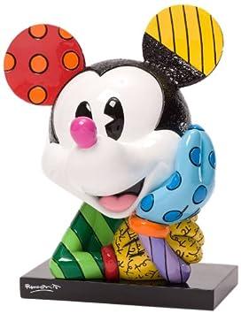Enesco Disney by Britto Mickey Bust Figurine, 6.25-Inch