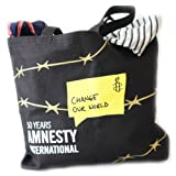 Amnesty International Change Our World Tote Bag (black), Bags Central