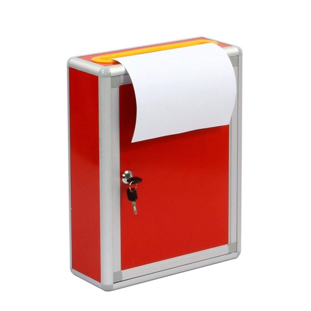 RANRANJJ ロック付きマウント可能な金属製の提案ボックス - 募金箱 - コレクションボックス - 投票箱 - キードロップボックス   B07T4FNQHY
