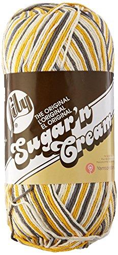 Lily Sugar 'N Cream Big Ball Ombres Yarn - (4) Medium Worsted Gauge 100% Cotton - 12 oz -   Golden Mist   -  Machine Wash & (Yarn Mist)