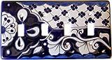 Traditional Talavera Quadruple Toggle Switch Plate