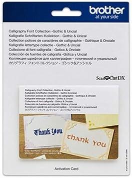 Brother Caligrafía – Gothic/Unical una ampliación de Las Funciones de Hobby- Plotter (sólo para ScanNCut Serie DX): Amazon.es: Informática