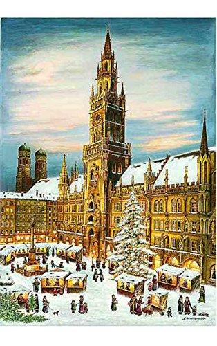 Alexander Taron Importer 2275 Bruck & Sohn Advent-Scene from City of Munich-15 H x 10.5