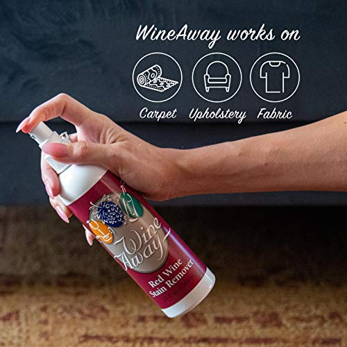 Wine Away Red Wine Stain Remover - Perfect Fabric Upholstery and Carpet Cleaner Spray Solution - Removes Wine Spots - Spray and Wash Laundry to Vanish Stain - Wine Out - Zero Odor - 12 Ounce, Set of 4