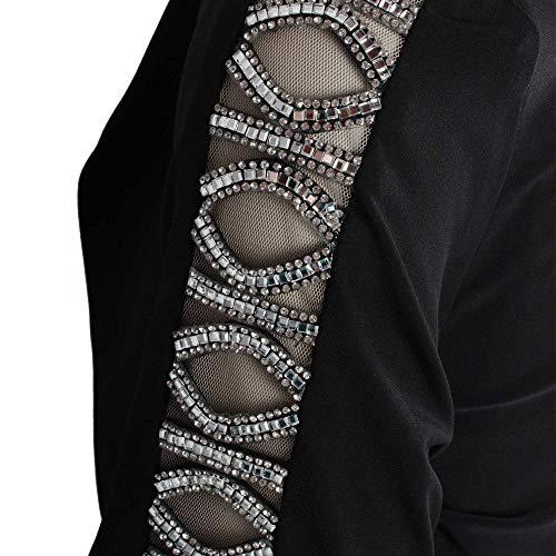 Diamante Style Crop Sleeve Bolero Frank Lyman Black Jacket 58waZUq
