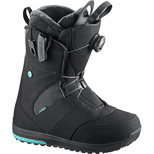 Boot Ivy Snowboard (Salomon Snowboards Ivy Boa Snowboard Boot - Women's Black, 6.0)