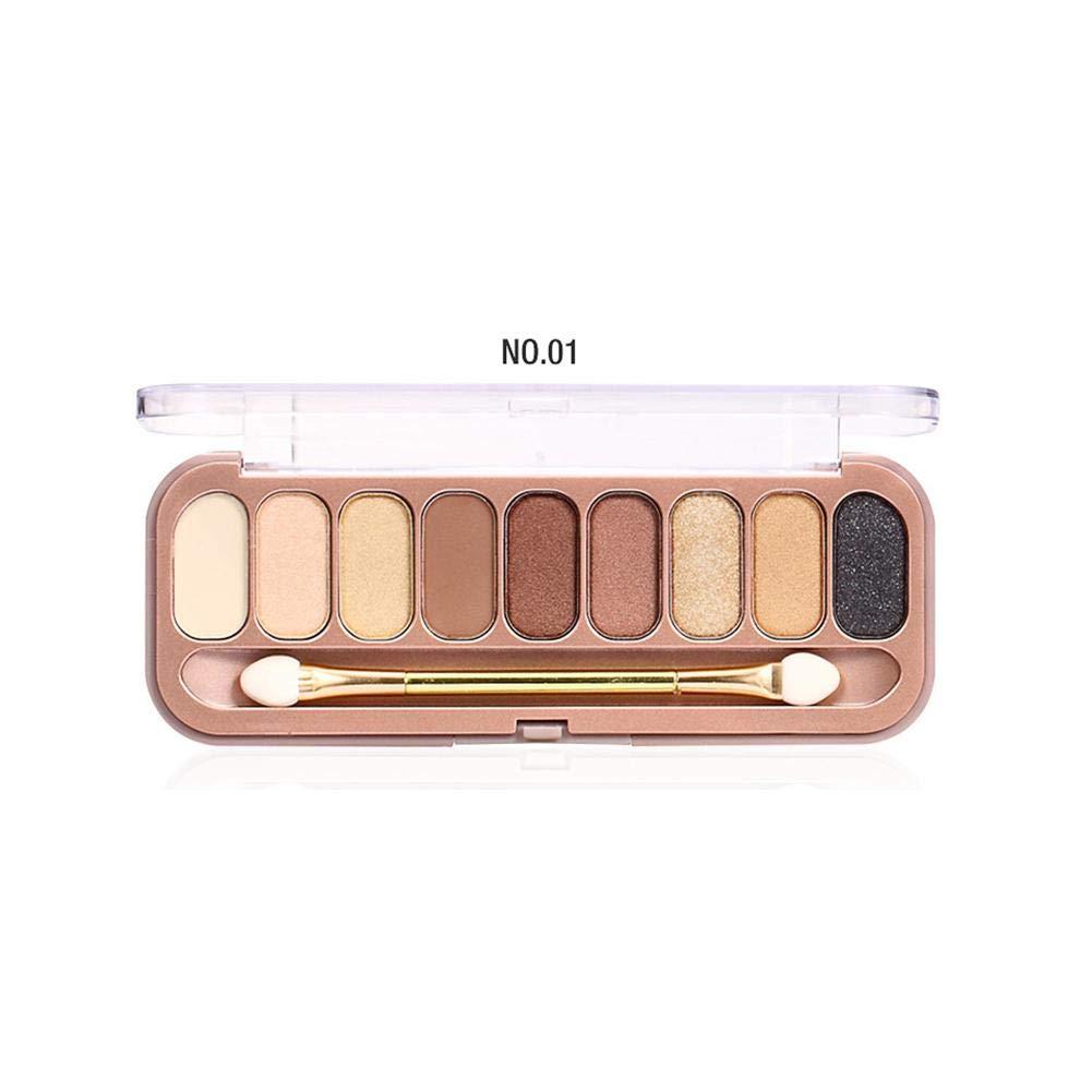 Ombre à Paupières Palette 9 couleurs avec pinceau maquillage yeux femmes cadeau fille ombre