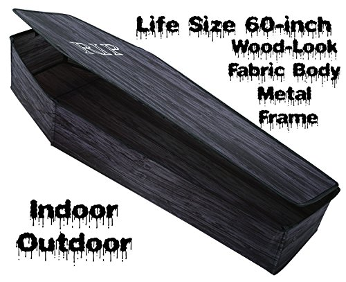 Life Size POP-UP INSTANT COFFIN PROP w-LID Haunted