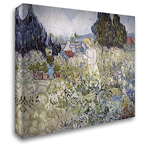 - Marguerite Gachet in The Garden at Auvers-Sur-Oise 38x32 Extra Large Gallery Wrapped Stretched Canvas Art by Van Gogh, Vincent