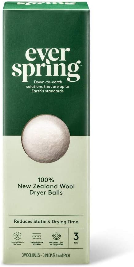 100% New Zealand Wool Dryer Balls - 3ct - Everspring