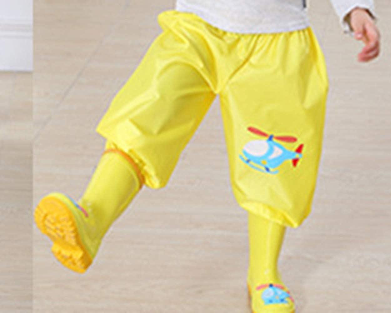 Pantalones Impermeables de Dibujos Animados para Lluvia Ropa de Lluvia para ni/ños y ni/ñas Jugar al Aire Libre