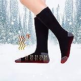 Heilsa Men&Women Heated Socks, USB Rechargeable Adjustable Temperature Heating Socks Foot Warm Equipment