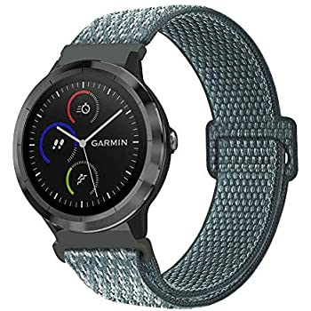 Fintie Band for Garmin Vivoactive 3 Music/Vivomove HR/Forerunner 245/645 Music Smartwatch, 20mm Quick Release Lightweight Breathable Nylon Replacement ...