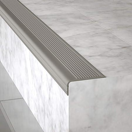 Perfil bordes de escaleras Peldaño autoadhesivo antideslizante Perfil de borde antideslizante Escalera de esquina Nariz antideslizante escalera Para azulejos,madera maciza,escaleras de mármol.(1m): Amazon.es: Hogar