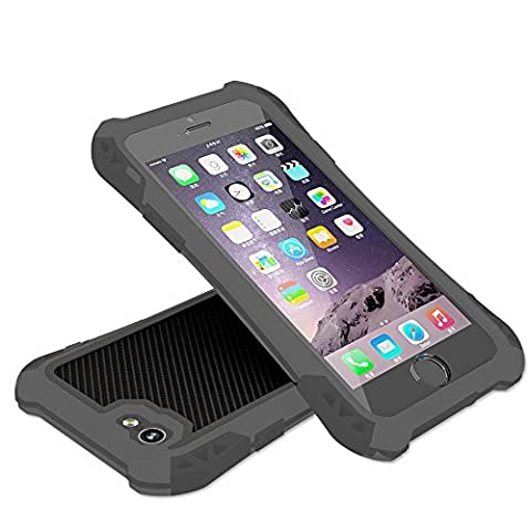 Luxsure® Aluminum Metal Shockproof Dustproof Dirt Proof Military Heavy Duty Armor Protective Rugged Hard Case for Apple iPhone 6 4.7