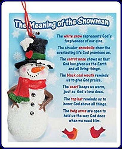 Image Unavailable - Amazon.com: Lot Of 3 The Meaning Of The Snowman Christmas Ornaments