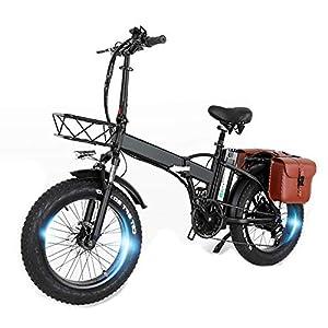 51RzdwArI9L. SS300 CMACEWHEEL GW20 20 Pollici Mountain Bike Portatile, 750W E-Bike Pieghevole, Fat Bike da Neve a 7 velocità, Batteria da 48V ad Alta capacità