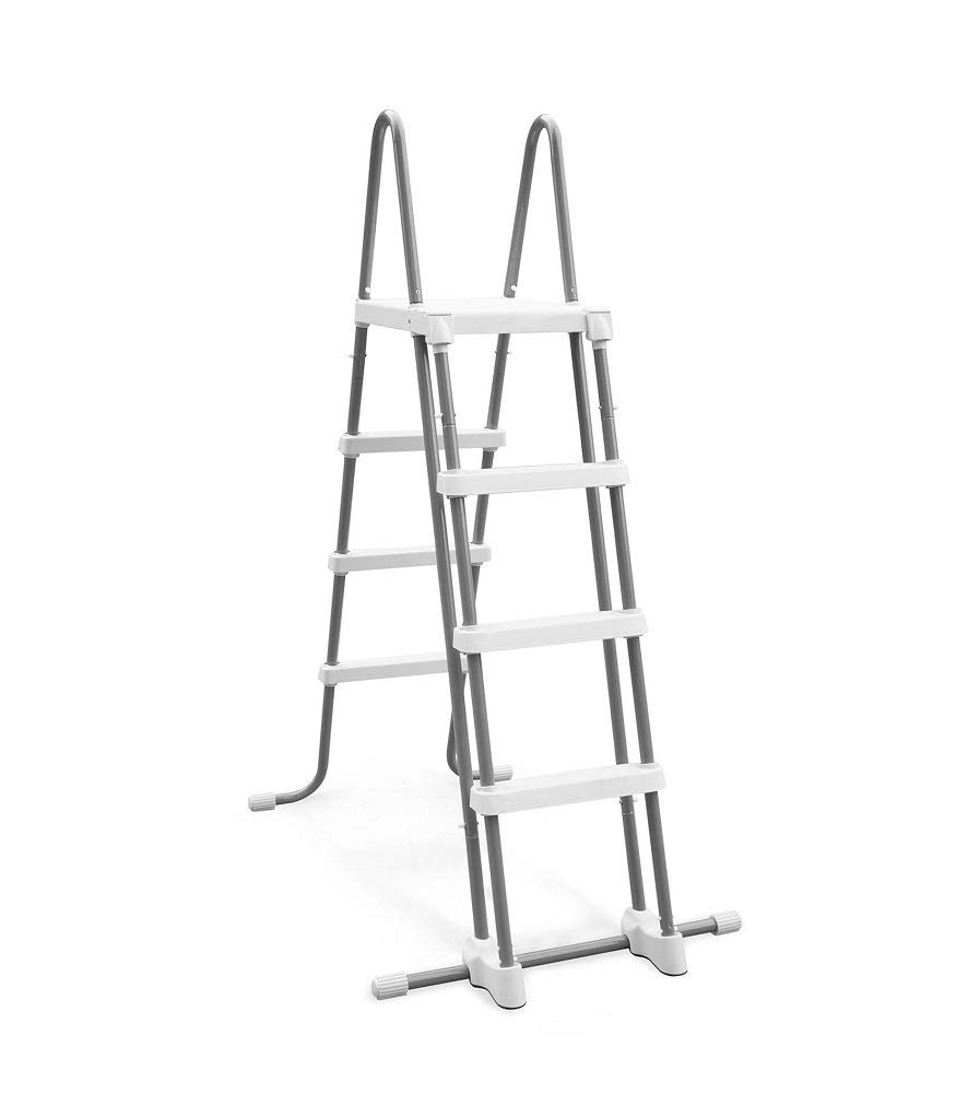 Intex Deluxe Pool Ladder with Removable Steps for 48-Inch Wall Height Above Ground Pools (Renewed) by Intex