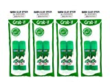 Grabbit NARA Glue Stick, 8 Grams, Non-Toxic, 2 in a Pack, 4 Packs of 2 (Total 8)