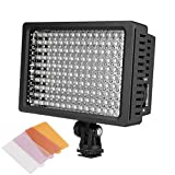 COOCHEER LD-160 LED Video Light Camcorder Fill Light Light Wedding Micro Film Clothing Shooting Dimmable LED Light for Canon, Nikon, Pentax, Panasonic, Sony and Olympus DSLR Cameras