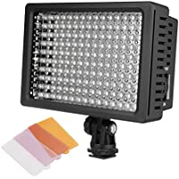 COOCHEER LD-160 LED Dimmable Camcorder Fill Light Wedding Micro Film Clothing Shooting Ultra Panel Video Light for Canon, Nikon, Pentax, Panasonic, Sony ,Samsung and Olympus DSLR Cameras