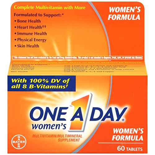 One A Day Women's Multivitamin, Supplement with Vitamins A, C, E, B1, B2, B6, B12, Biotin, Calcium and Vitamin D, 60 Count