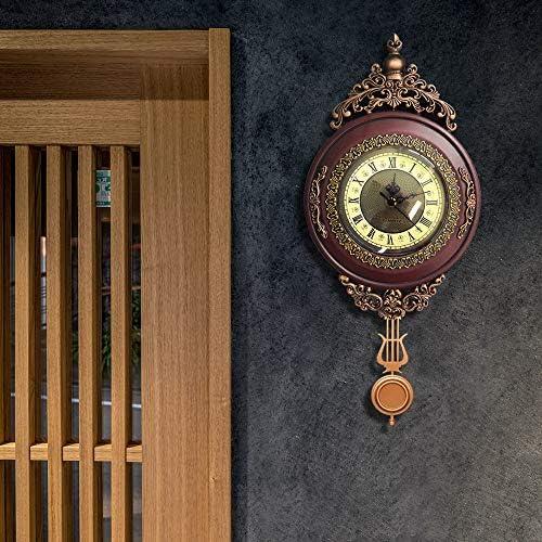 Giftgarden Horloge Murale Vintage /à Pendule Silencieuse Retro pour la Maison Chambre caf/é d/écor