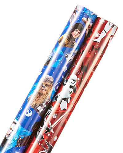 American Greetings Star Wars Holiday Wrapping Paper, 2-Roll, 30