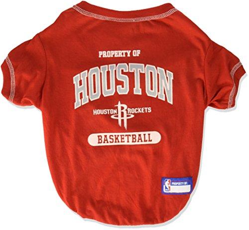 (Pets First NBA Houston Rockets Dog T-Shirt, Medium)