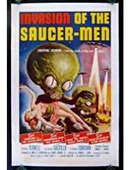 INVASION OF THE SAUCERMEN * CINEMASTERPIECES ORIGINAL VINTAGE FLYING SAUCER-MEN SAUCER MEN SCI FI SCIENCE FICTION UFO ALIEN MOVIE POSTER 1957