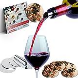 #9: Wine Pourer Disc Set of 10 Best Drip Stop Pour Spouts Thin Flexible and Reusable Drop Stop Disks