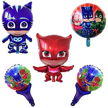 New Pj mask balloons 5 piece set ,big body shaped balloon 28 inch ,pj